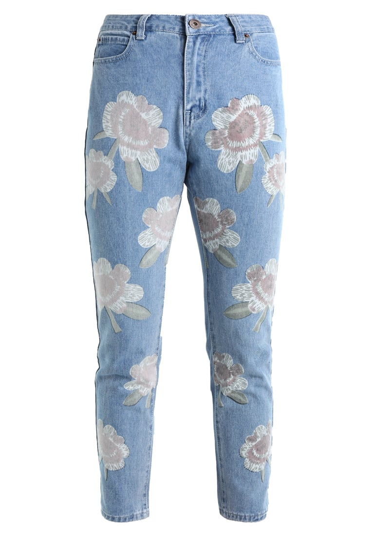 Liquor N Poker LAX MOM WITH PRINT Jeansy Relaxed fit stonewash - c837