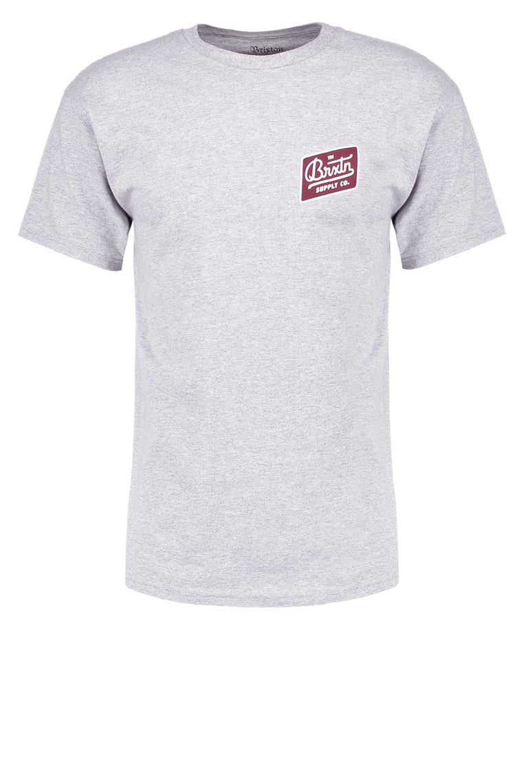 Brixton BEDFORD STANDARD FIT Tshirt z nadrukiem heather grey - 06523