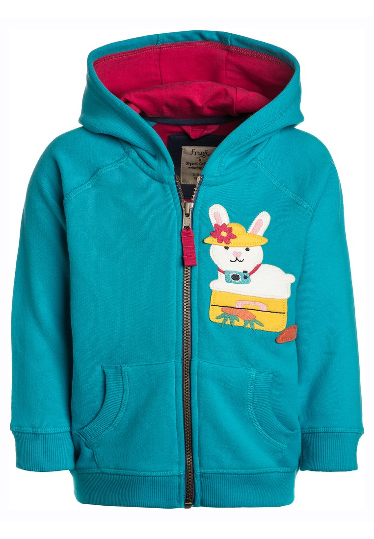 Frugi BABY HAYLE HOODY Bluza rozpinana turquoise - HDS801TBY