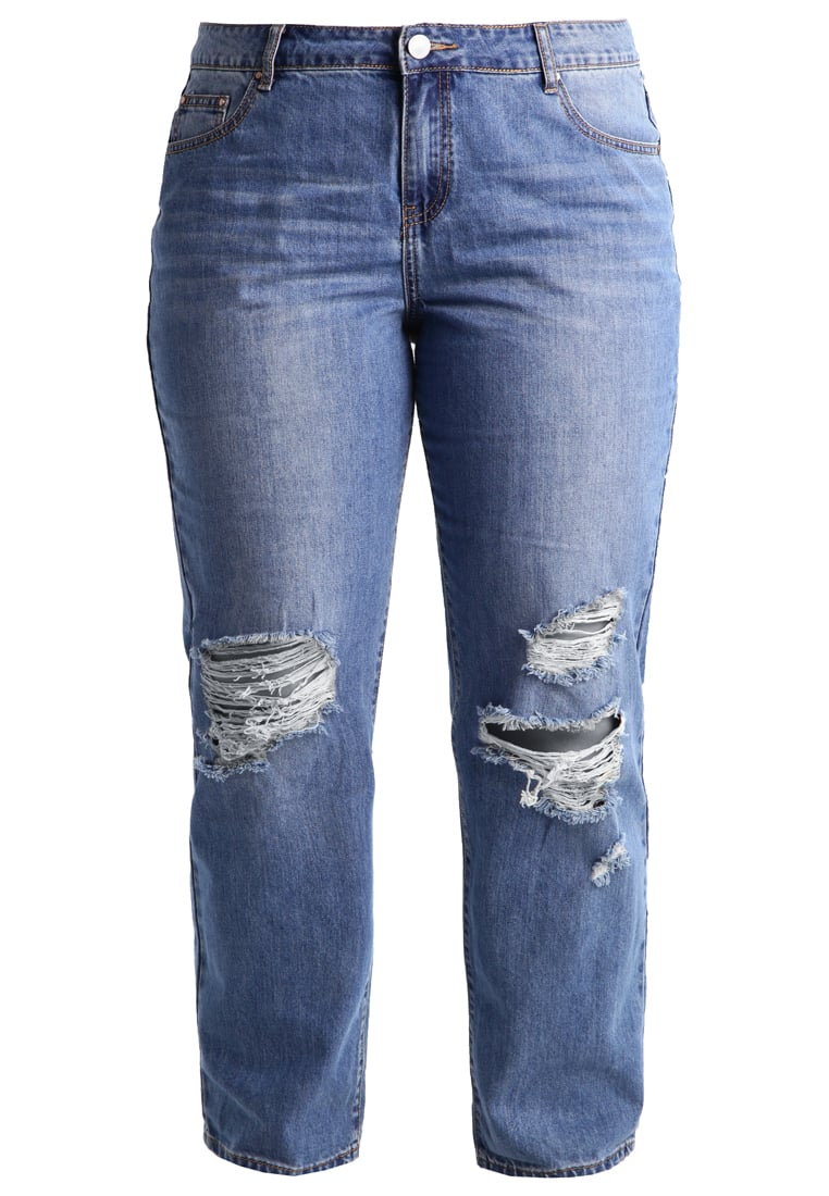Lost Ink Plus Jeansy Relaxed fit bleached denim - 0503115040090028