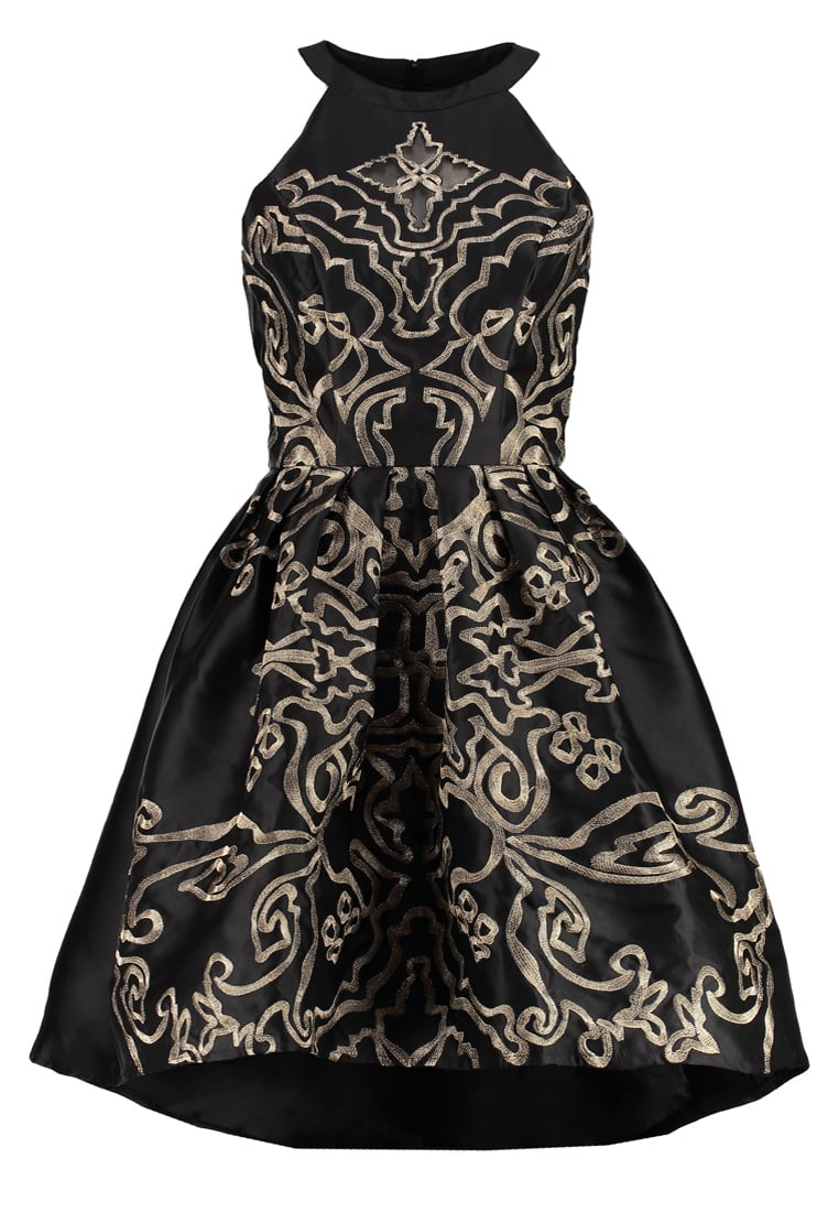 Chi Chi London CHRISTINA Sukienka koktajlowa black/gold - 7276BGL