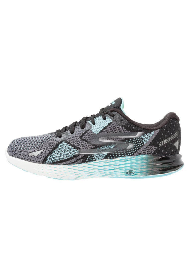 Skechers Performance GO MEB RAZOR Buty do biegania treningowe black/aqua - 14119