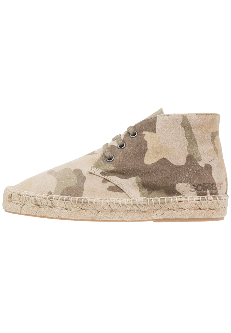 Solillas Sznurowane sportowe mlticoloured - ESPADRILLE BOOTS - LIGHT CAMO
