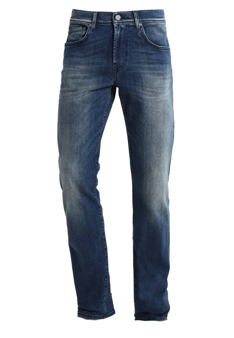 7 for all mankind SLIMMY LUXE PERFORMANCE Jeansy Slim fit mid blue - SMSU450BO