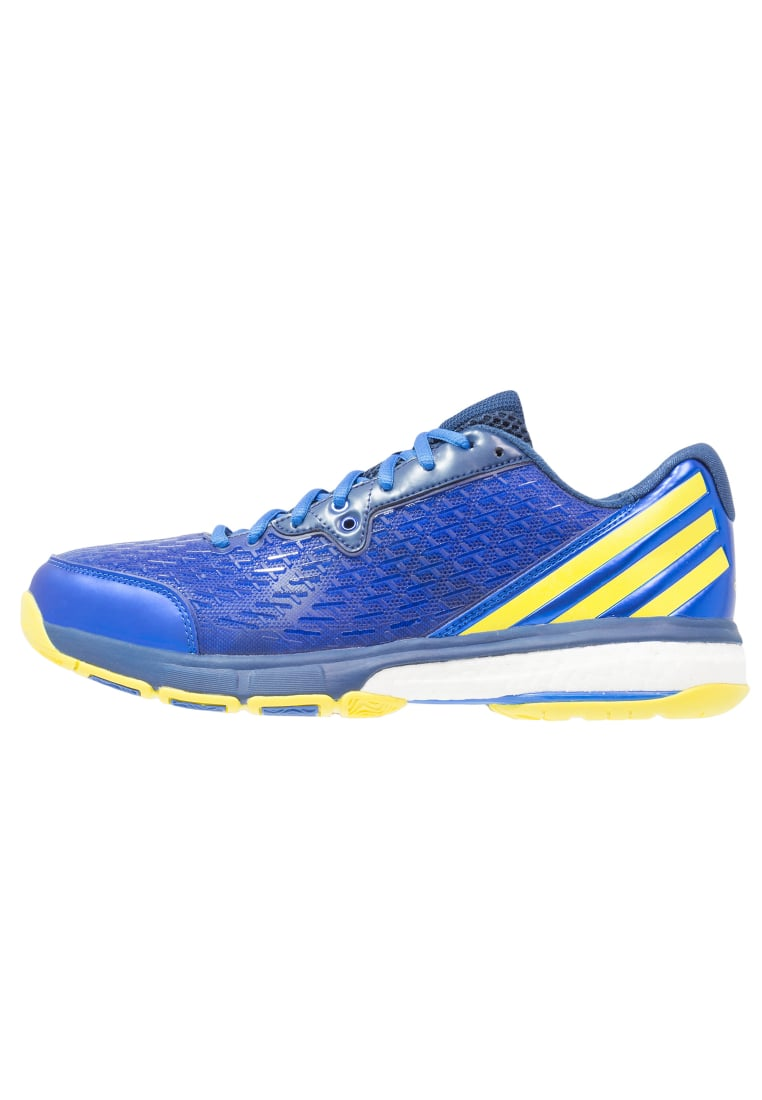 adidas Performance ENERGY VOLLEY BOOST 2.0 Buty do siatkówki mystery blue/bright yellow/blue - ILD89