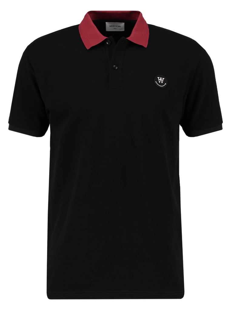 Wood Wood BRIAN Koszulka polo black - 10005703-2059