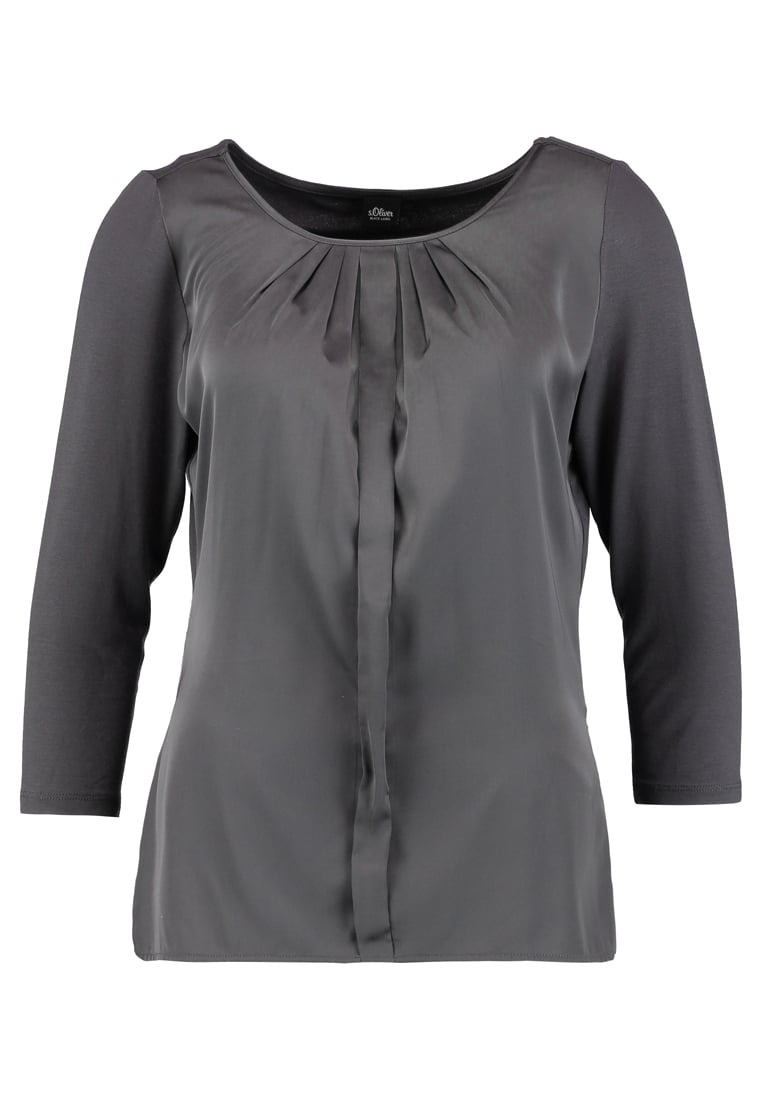 s.Oliver BLACK LABEL 3/4 ARM Bluzka touch of grey - 11711392553