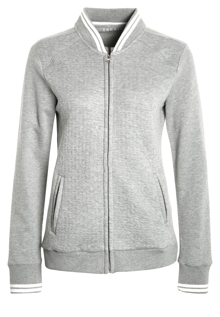 Esprit Sports Bluza rozpinana medium grey - 017EI1J007