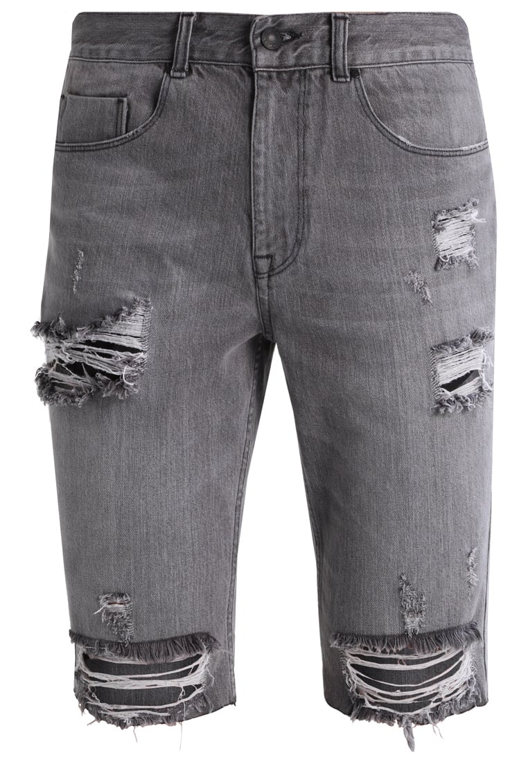 Antioch Szorty jeansowe washed black - ANMDS0015BLK
