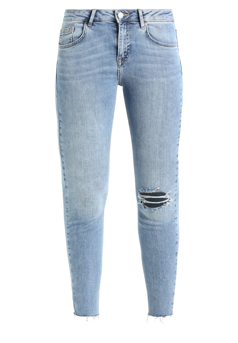 New Look 5 POCKET RIPPED LOTUS Jeans Skinny Fit mid blue - 5483962