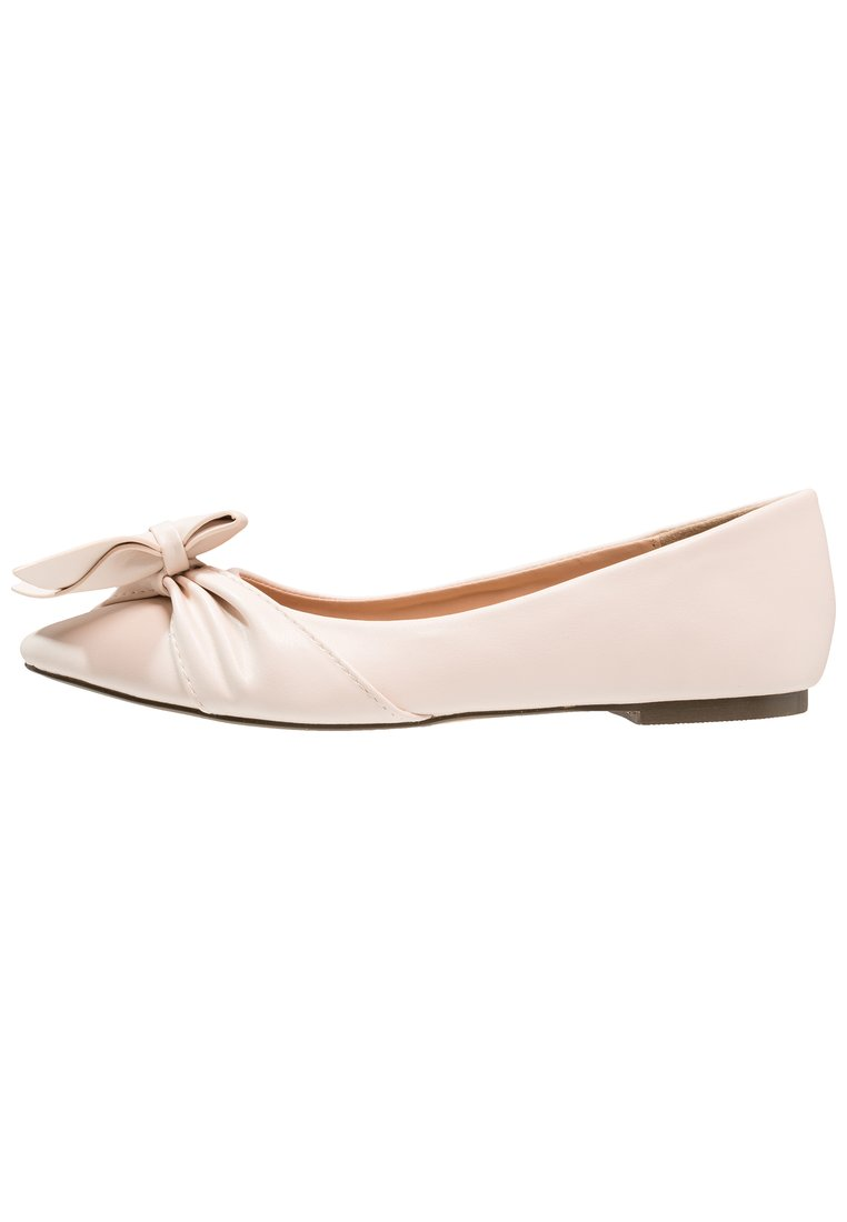Lost Ink ESME HALF BOW POINTED FLAT Baleriny nude