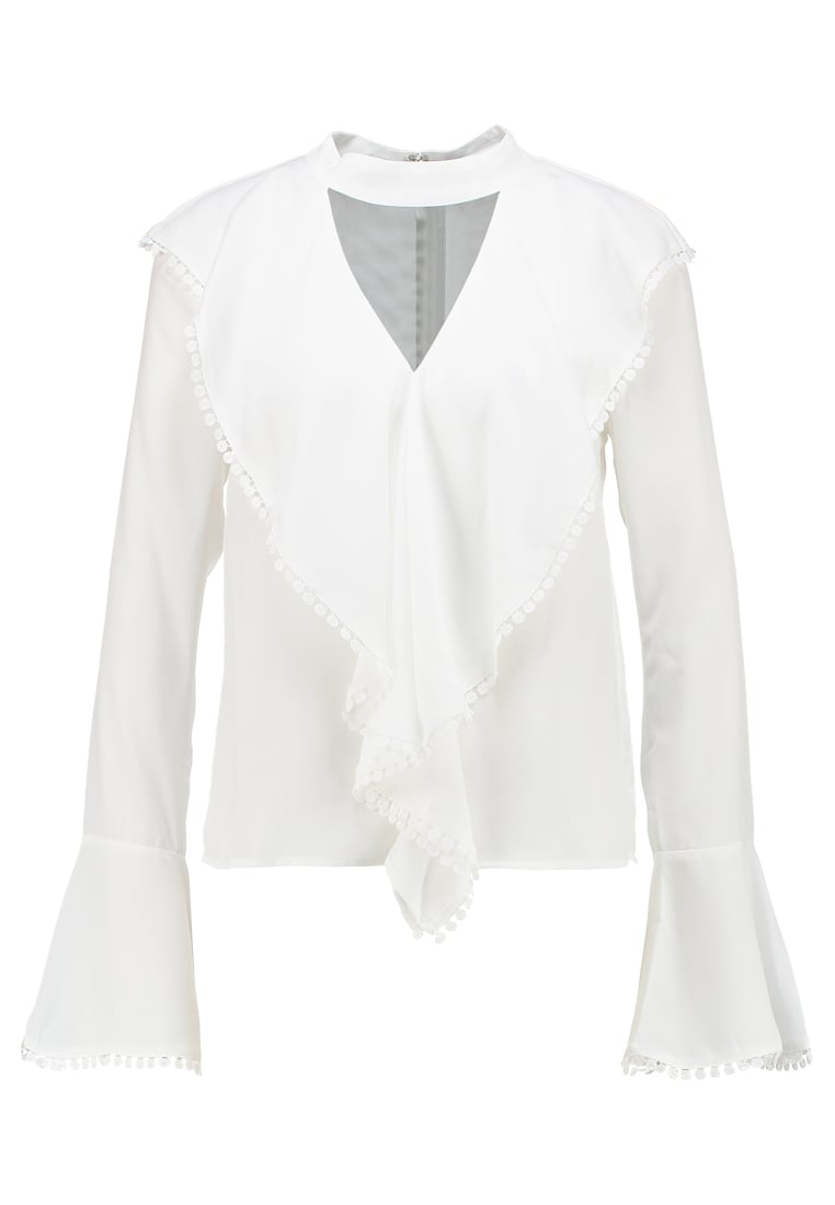 Endless Rose LONG SLEEVE BLOUSE WITH CASCADING RUFFLES Bluzka off white