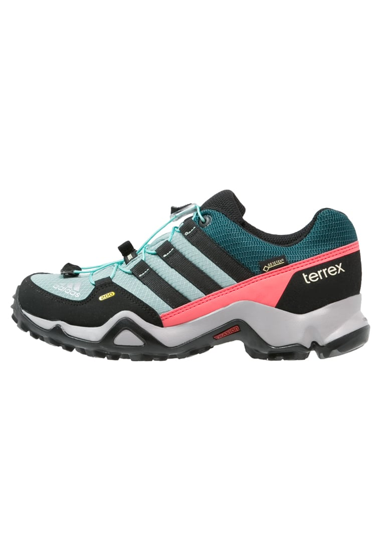 adidas Performance TERREX GTX Półbuty trekkingowe vapour steel/core black/tech green - IUW35