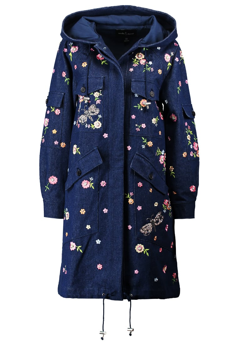 Needle & Thread DRAGONFLY GARDEN Parka dark indigo - CO0003SS17