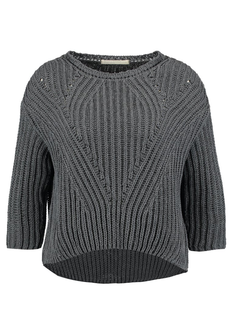 Friday's Project RECYCLED COTTON Sweter anthracite - 14066