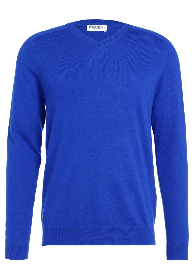 Essentiel Antwerp IMPROVISE Sweter ultra marine - M-Improvise Knit V Neck