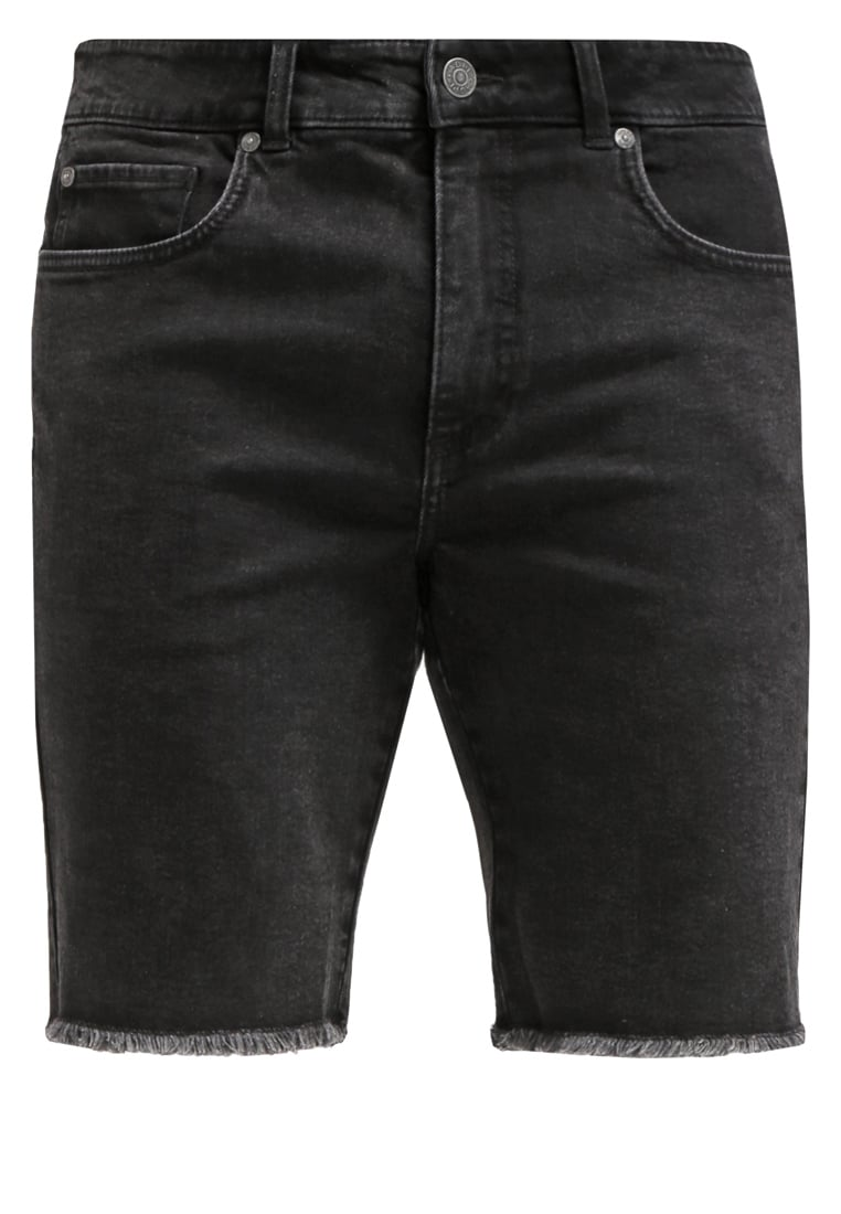 ADPT. Szorty jeansowe black denim - 80000605