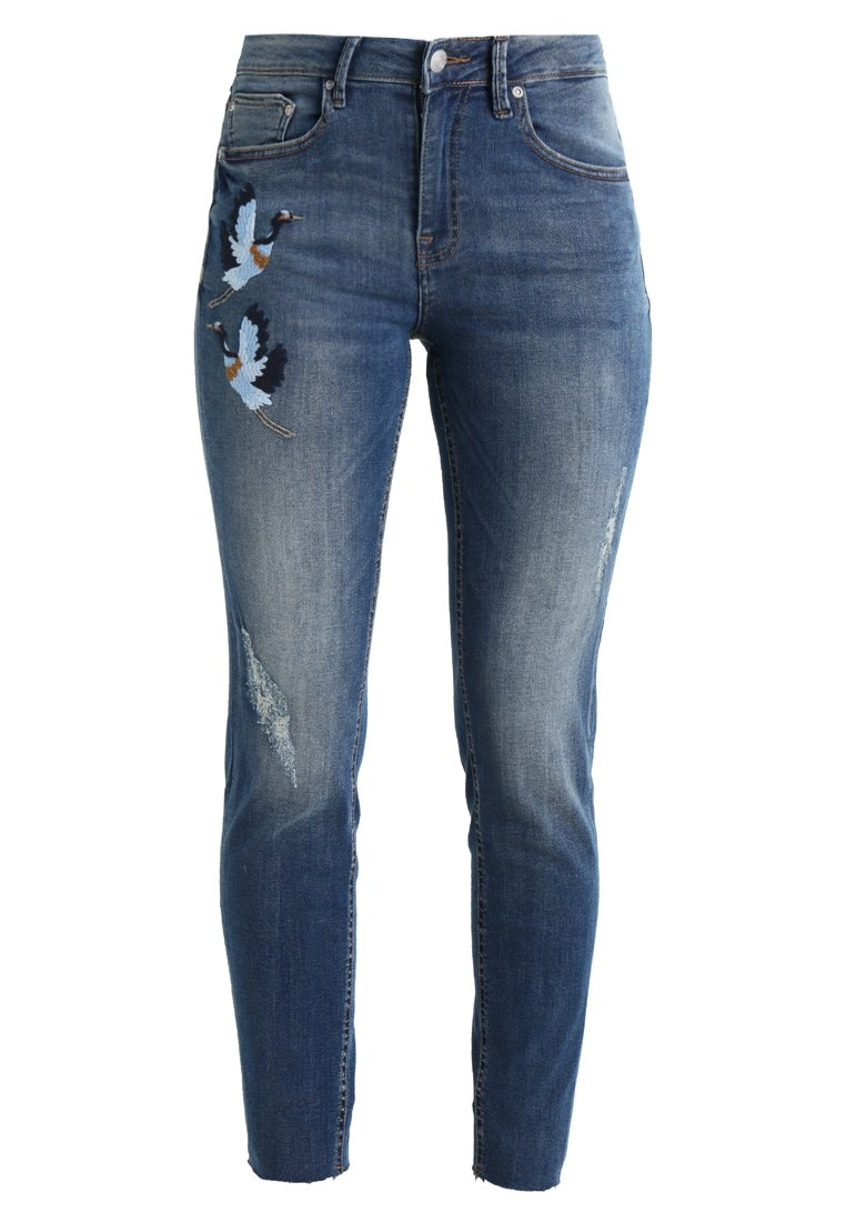 b.young KATO LUNI EMBROIDERY Jeansy Slim fit antique blue - 20803215