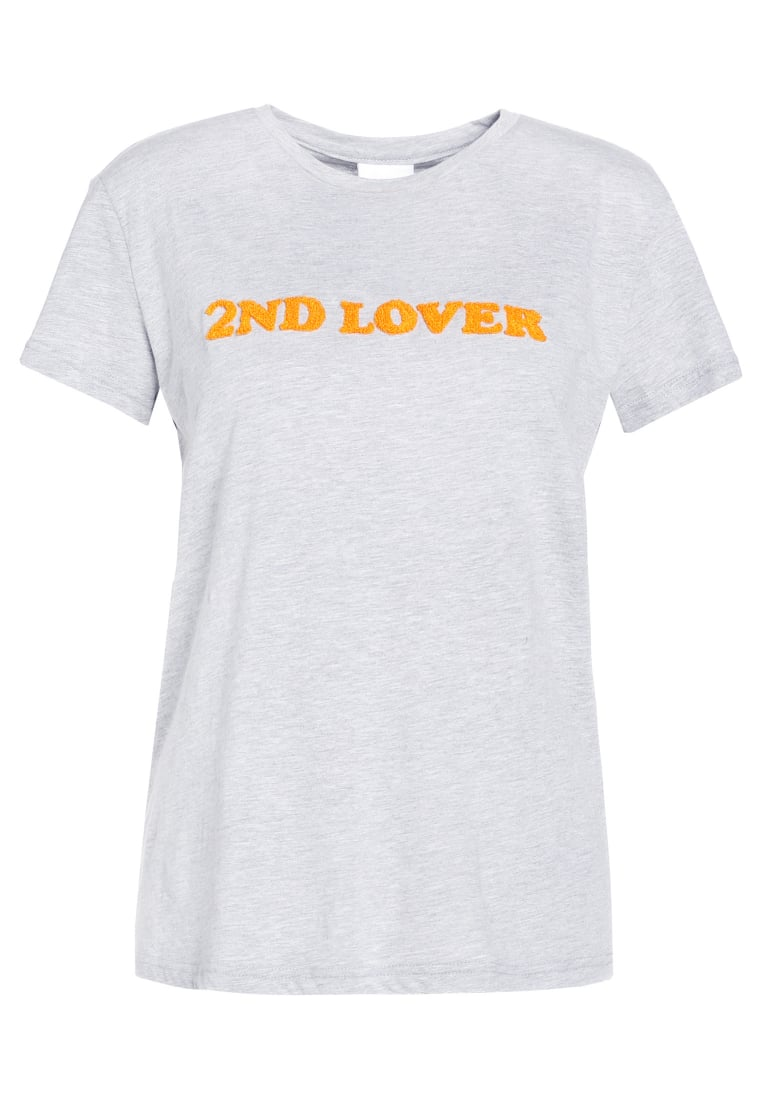 2nd Day 2ND LOVER Tshirt z nadrukiem medium grey melange - 6173240003