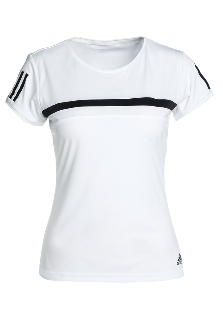 adidas Performance CLUB TEE Tshirt z nadrukiem white - EAR48