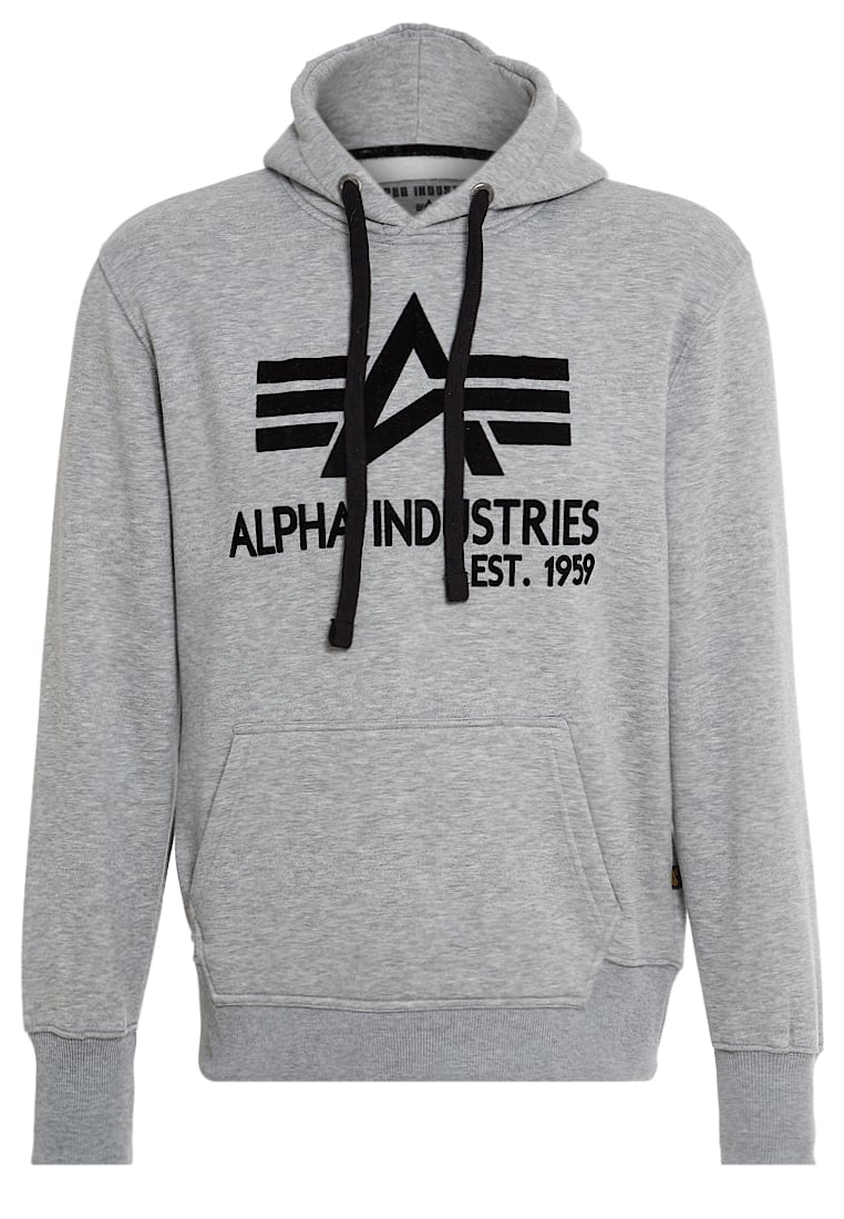 Alpha Industries BIG A CLASSIC Bluza z kapturem grey heather - 103308