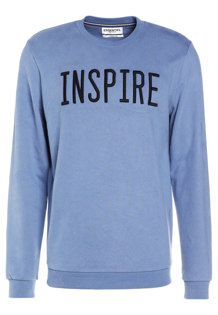 Essentiel Antwerp INQUIRY EMBROIDERED Bluza sky blue - M-Inquiry Embroidered Sweatshirt