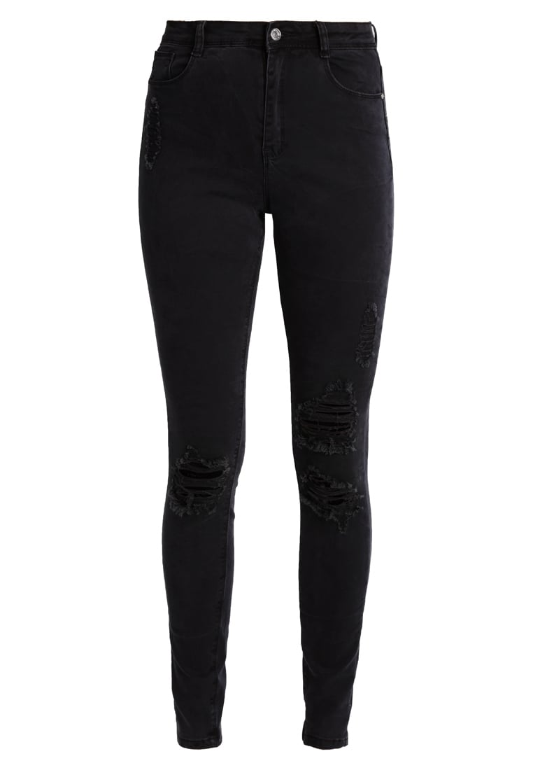 Missguided Tall SINNER AUTHENTIC Jeansy Slim Fit black - WZG1801004, WSG1801004