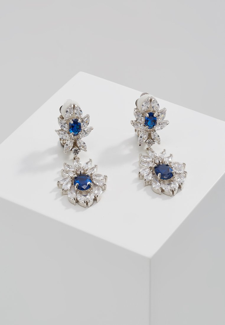 CZ by Kenneth Jay Lane EAR OVAL DROP Kolczyki royal blue - KE1116
