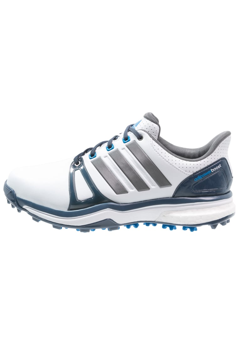 adidas Golf ADIPOWER BOOST 2 WD Buty do golfa white/mineral blue/shock blue