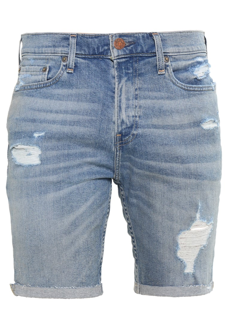 Hollister Co. Szorty jeansowe destroyed light - KI328-7500-414309