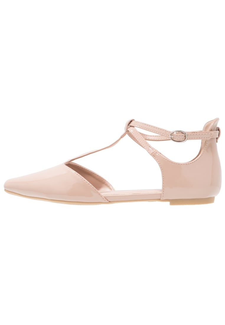 Dorothy Perkins Wide Fit HALLY Baleriny z zapięciem peach - 35267035, 35267055