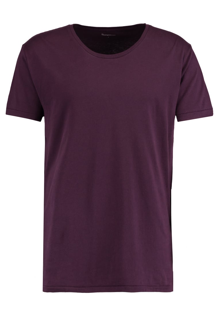 Knowledge Cotton Apparel BASIC FIT ONECK Tshirt basic plum perfect - 10110