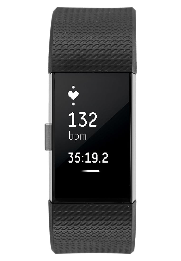Fitbit CHARGE 2 Pulsometr black/silvercoloured - 40-29-35