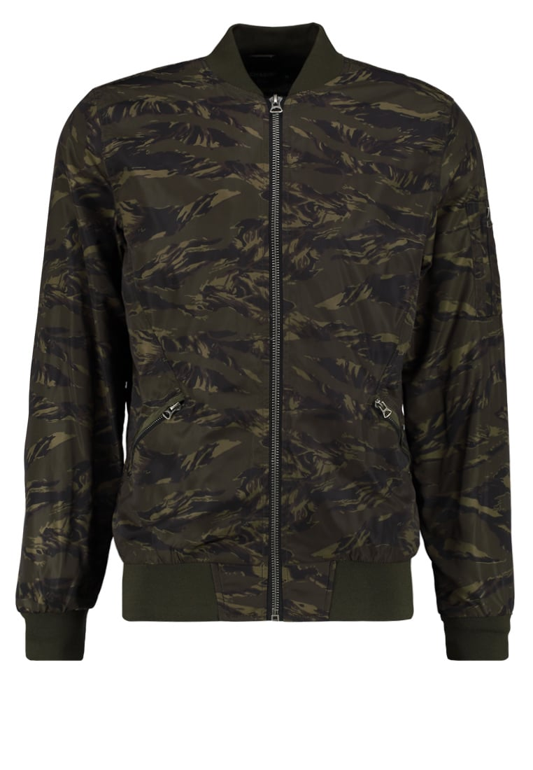 Chasin' BRAYTON BADGE Kurtka Bomber green - 7111270004