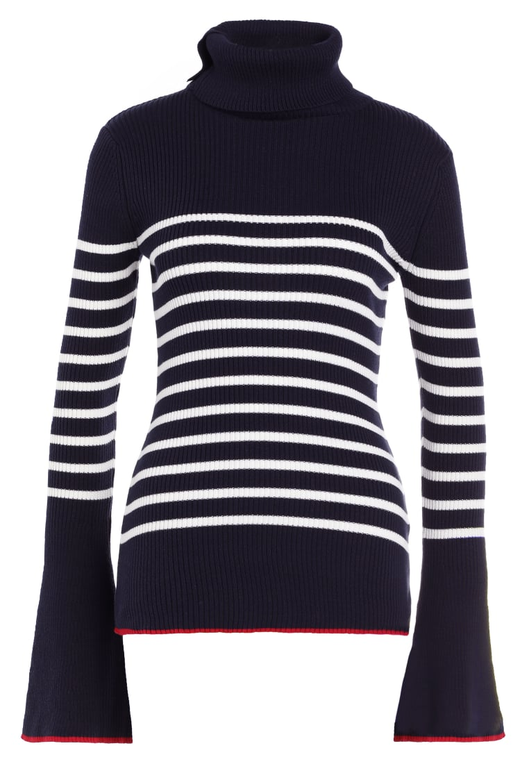 Each x Other STRIPED TURTLE NECK Sweter navy - FW17G14099