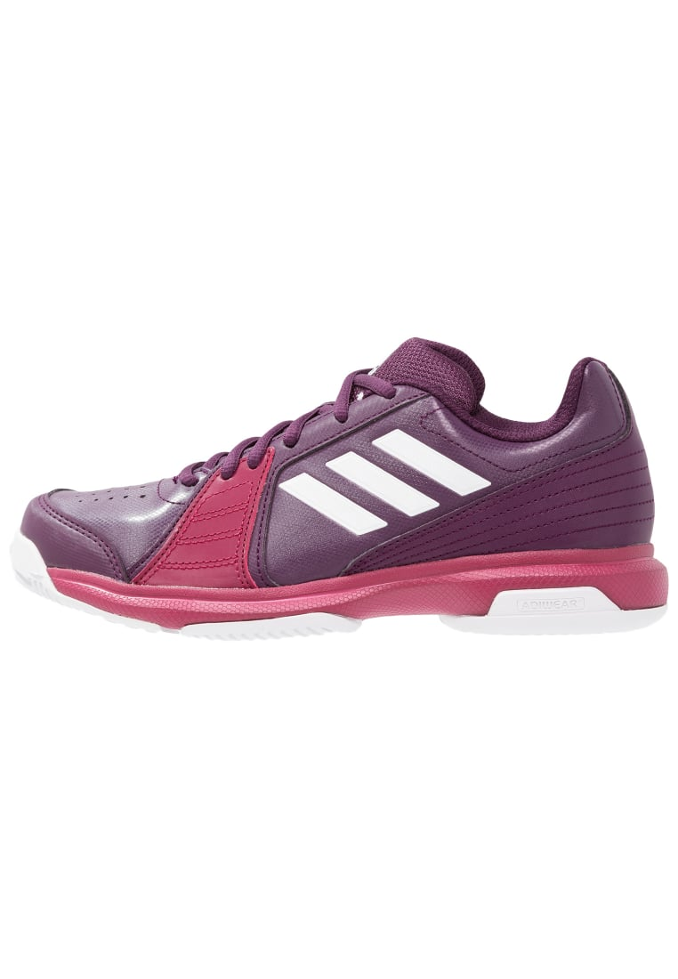 adidas Performance ASPIRE Buty multicourt rednit/footwear white/mystery ruby - CDA46