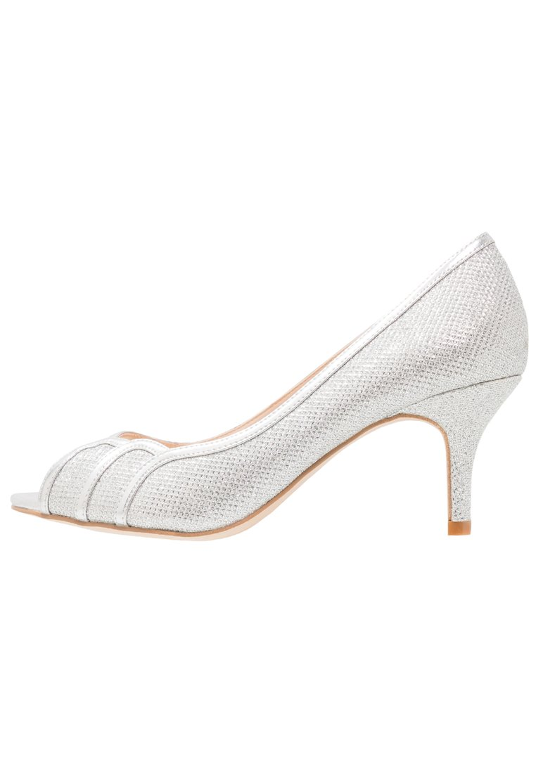 Paradox London Pink CHESTER Peep Toe silver glitter - Chester