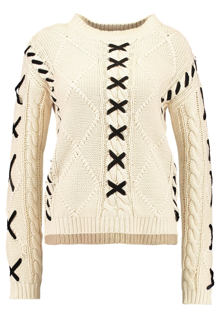 Endless Rose LACE UP CHUNKY Sweter beige - 80501T7FR