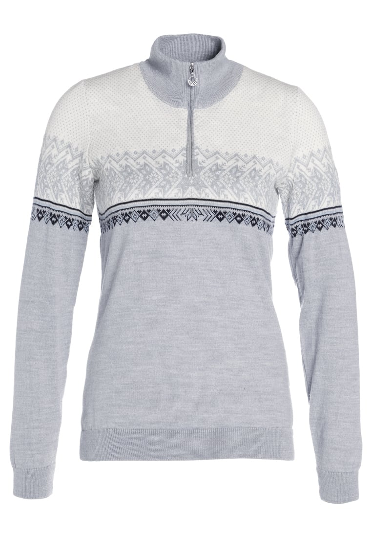 Dale of Norway HOVDEN Sweter grey/ice blue/navy/off white - 93451