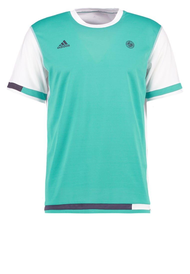 adidas Performance Tshirt basic core green/new trace grey - BVL03