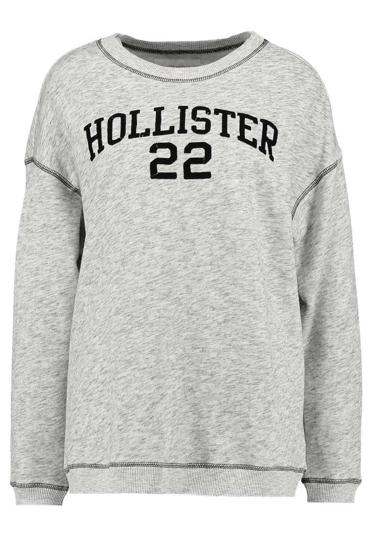 Hollister Co. EASY CORE LOGO CREW Bluza mottled grey