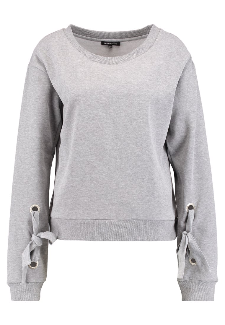 one more story Bluza silver grey melange - 100048