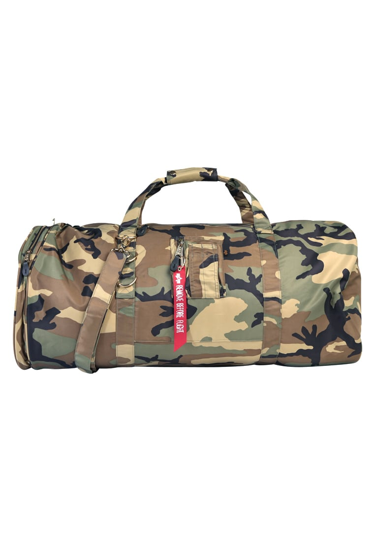 Alpha Industries FLIGHT DUFFEL BAG Torba podróżna woodland camo - 178906