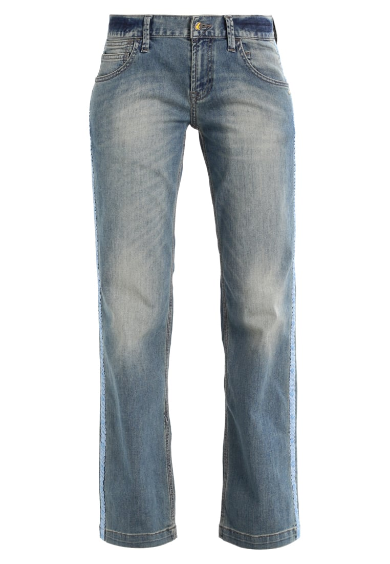 Monkee Genes CLIPPER Jeansy Straight leg beat with tape - MGO89BT