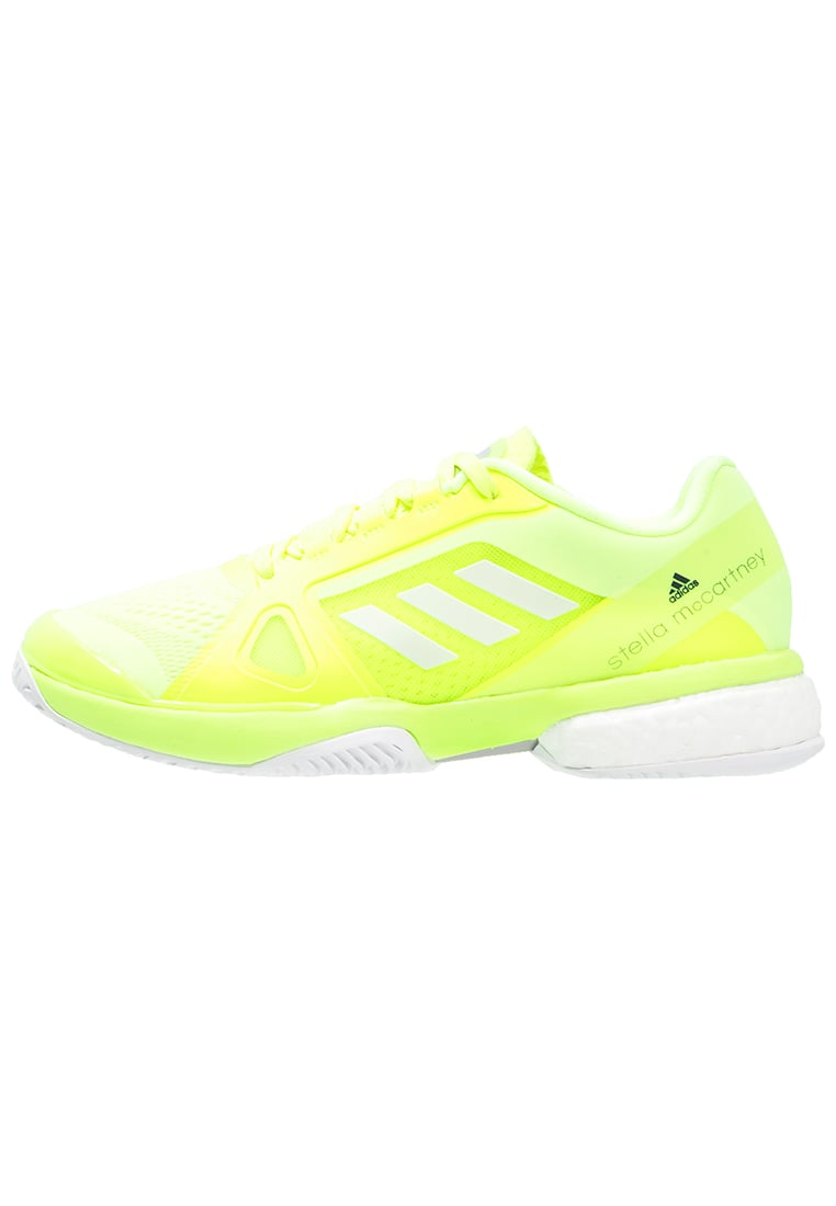adidas Performance BARRICADE BOOST 2017 Buty multicourt solar yellow/white - BEH82