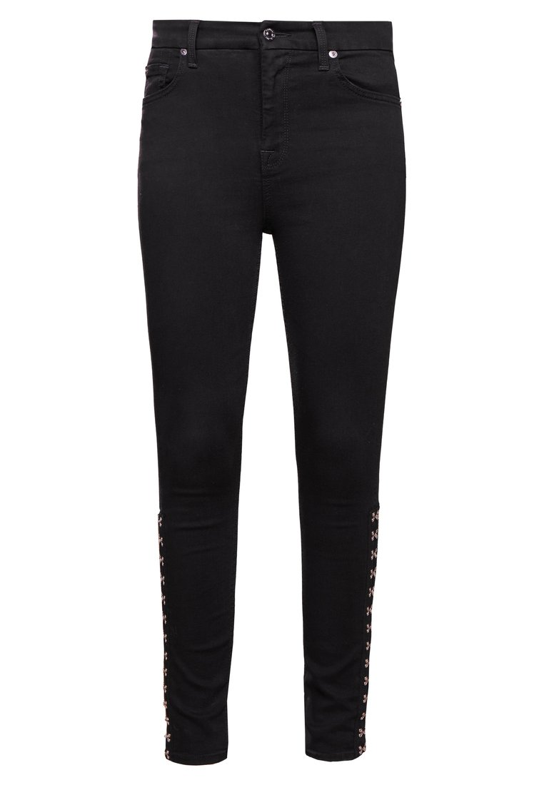 7 for all mankind HIGHTWAIST SKINNY CROPPED Jeans Skinny Fit bair black - JSWT930