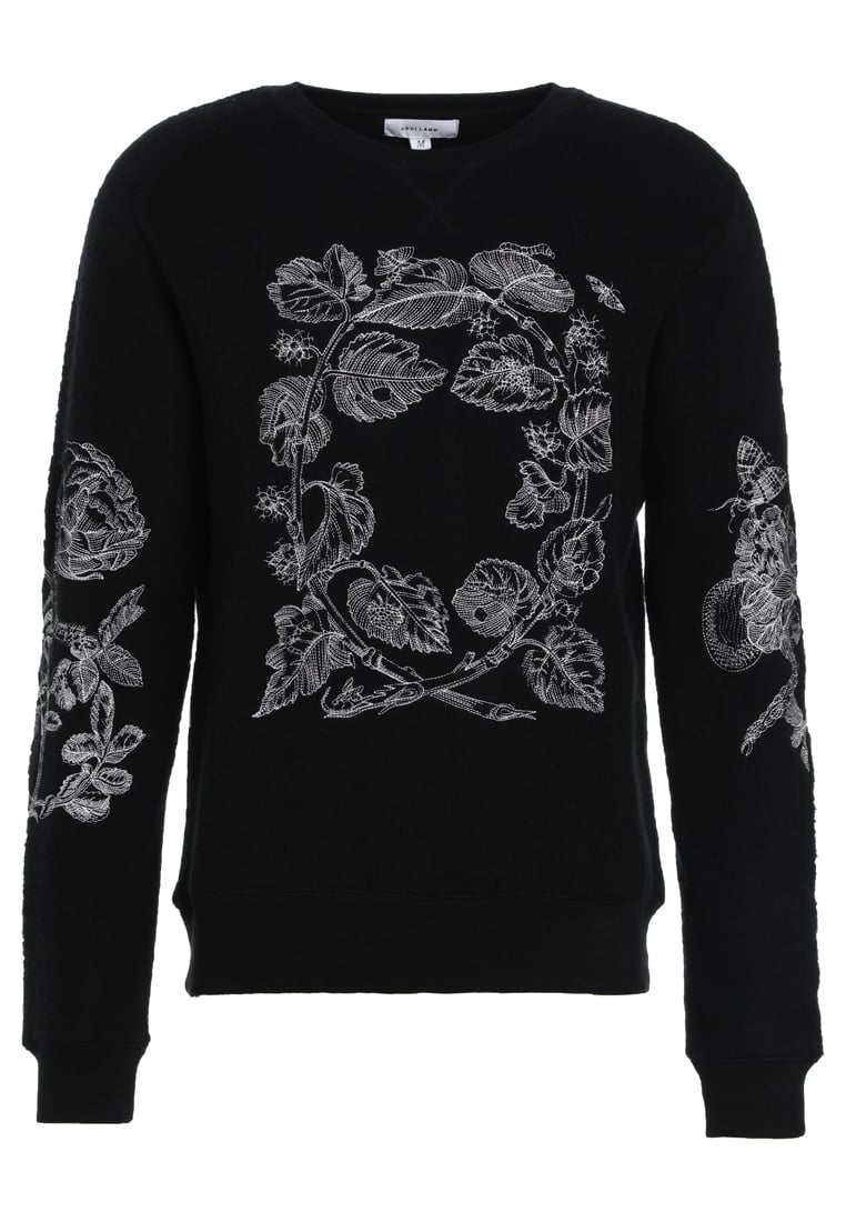 Soulland DAMIAN EMBROIDERY Sweter black - 74-01-441