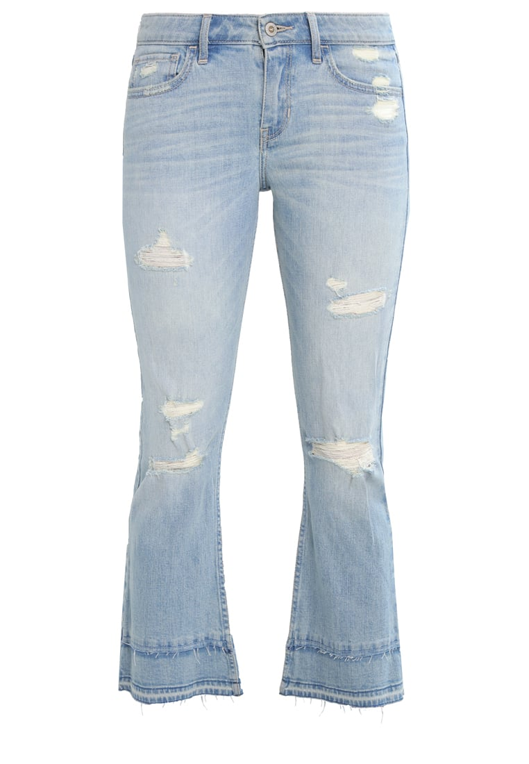 Hollister Co. Jeansy Dzwony light destroy - KI355-7056