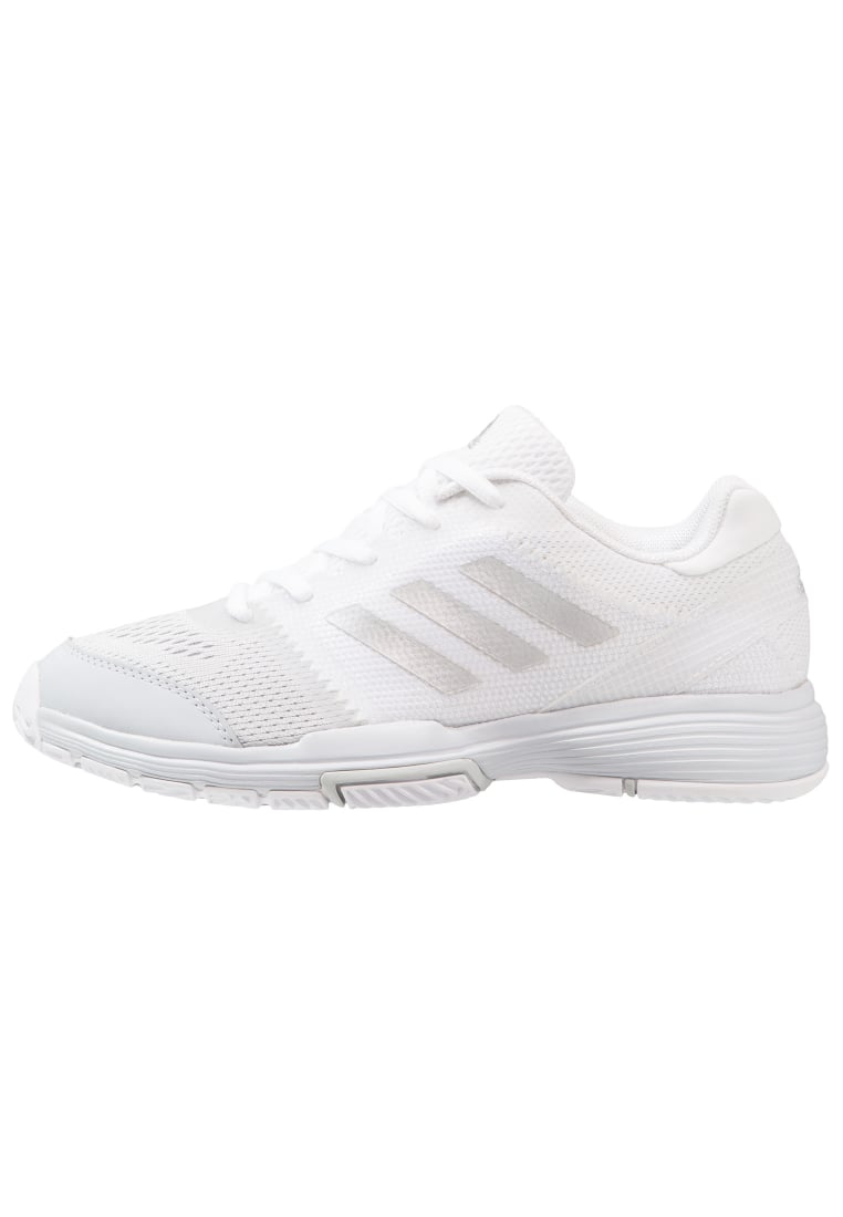 adidas Performance BARRICADE CLUB Buty multicourt footwear white/silver metallic/core pink - KDZ71
