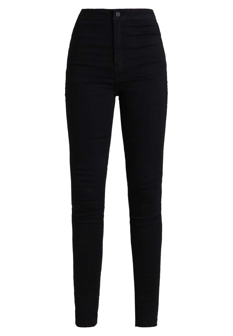 Missguided Tall VICE HIGH WAISTED Jeans Skinny Fit black - WZg9800083